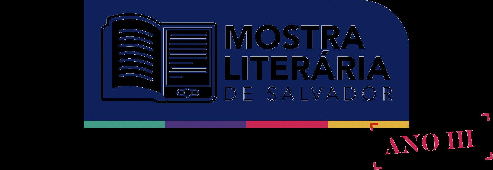 Logo da mostra literária de salvador